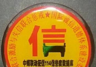 征信114办公室形象墙标识定稿勋章继续赠送中有需联系